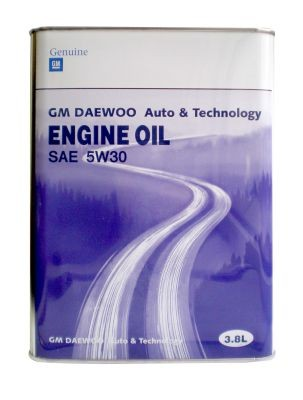 General Motors DAEWOO ENG INE OIL SAE 5W30