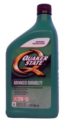 Quaker State Advanced Durability SAE 20W-50 Motor Oil